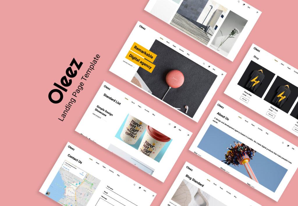 Oleez Website Template